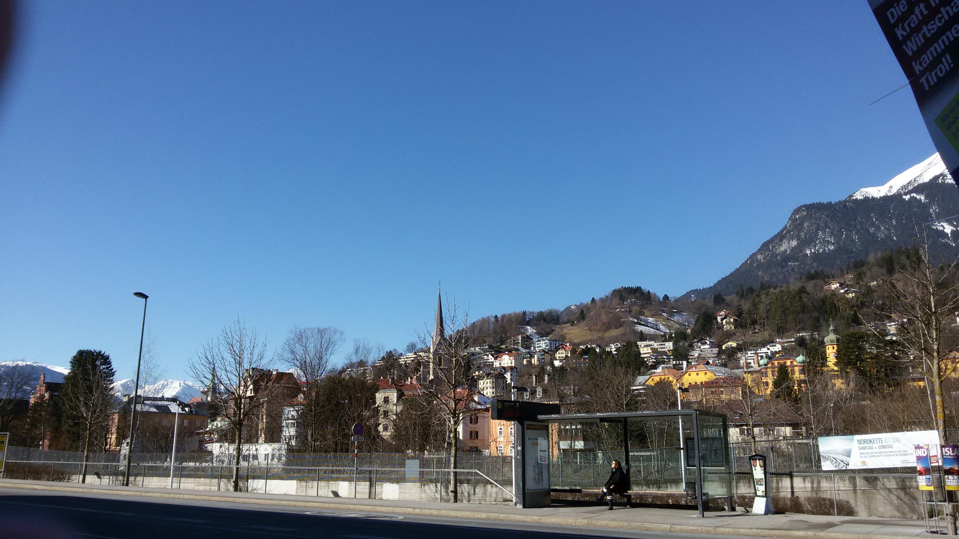 Innsbruck, Blick auf die Alpen