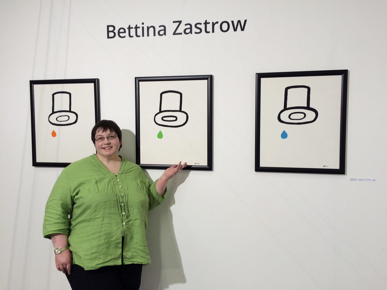 """Bettina Zastrow mit Bilderserie """"Weinender Zauberer"""" auf der Kunstmesse Art Innsbruck 2015"""
