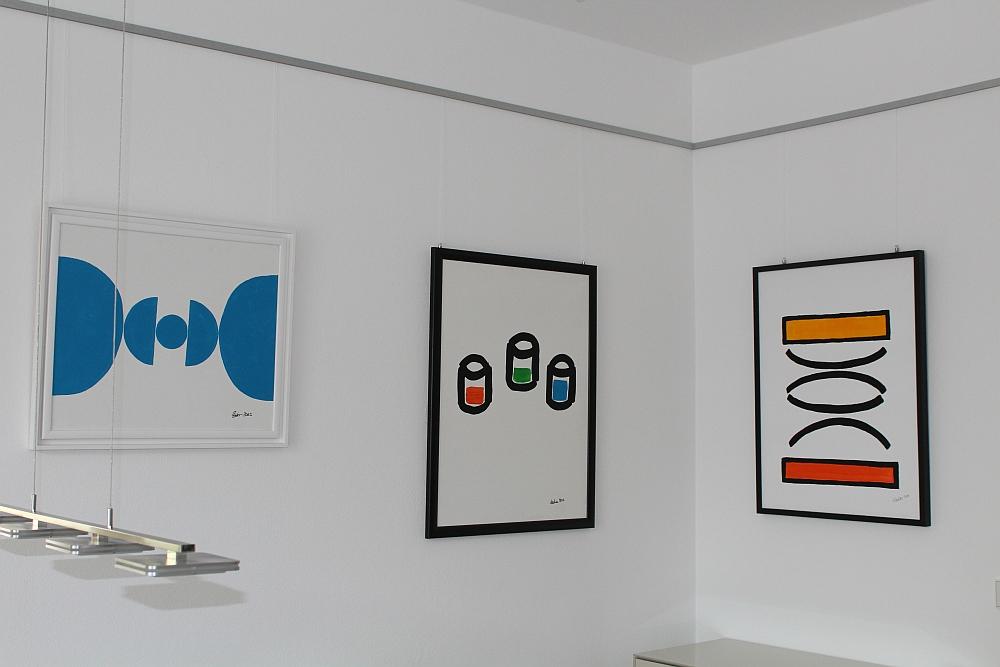 """Bilder """"Family Secrets"""", """"Drei Gläser"""" und """"Reflexion""""in der Ausstellung """"Augenmaß"""" in München-Harlaching 2015"""