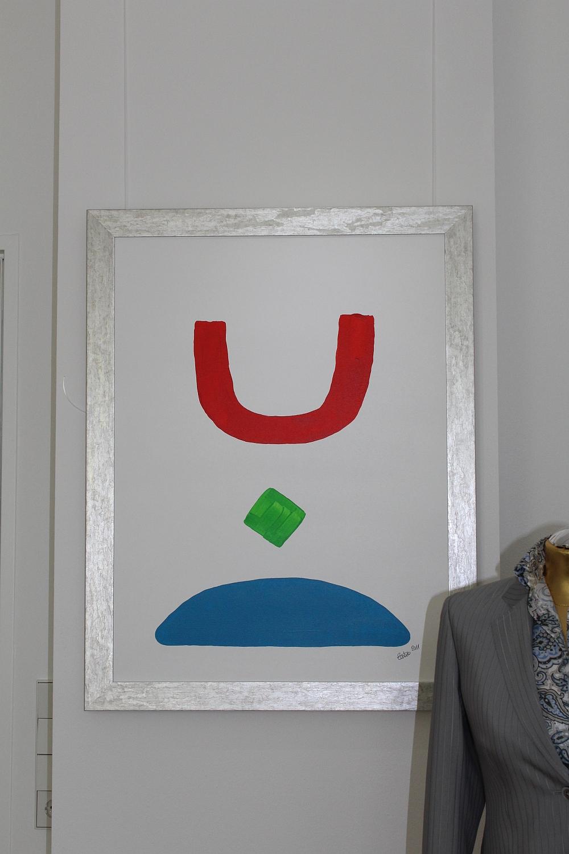 """Bild """"Siegel"""" in der Ausstellung """"Augenmaß"""" in München-Harlaching 2015"""