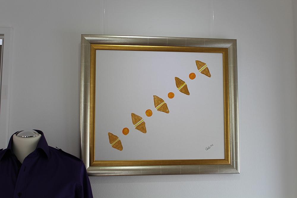 """Bild """"Bernstein"""" in der Ausstellung """"Augenmaß"""" in München-Harlaching 2015"""
