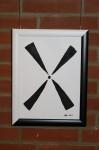 """Bild """"Wind"""", Ausstellung im Rathaus Unterföhring, März 2010. Foto: Peter Schäfermeier"""