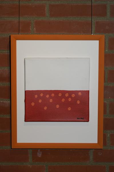 """Bild """"Feuermeer"""", Ausstellung im Rathaus Unterföhring, März 2010. Foto: Peter Schäfermeier"""