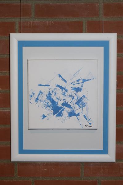 """Bild """"Blue Star"""", Ausstellung im Rathaus Unterföhring, März 2010. Foto: Peter Schäfermeier"""