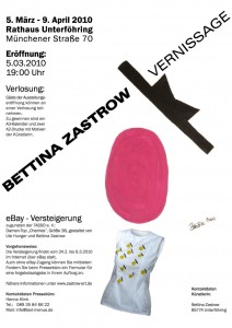 Plakat Vernissage Bettina Zastrow  24.02.2010